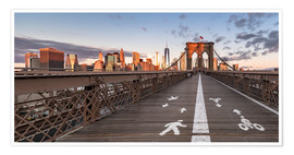 Poster Premium Brooklyn Bridge New York