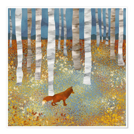 Poster Premium  Volpe d'autunno - SpaceFrog Designs