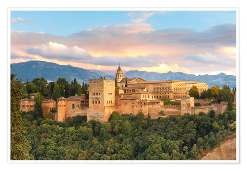 Poster Premium Alhambra with Comares tower
