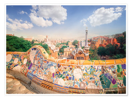 Poster Premium  The Park Guell in Barcelona