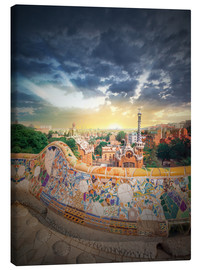 Stampa su tela  The famous park Guell in Barcelona