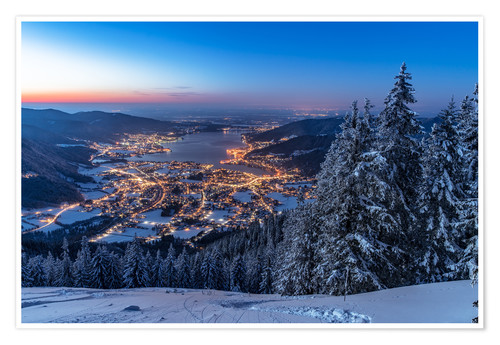 Poster Premium Winter at Lake Tegernsee