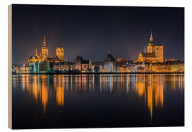 Legno  Skyline of Stralsund at night - Kristian Goretzki