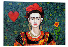 Vetro acrilico  Frida, queen of hearts closer - Madalena Lobao-Tello