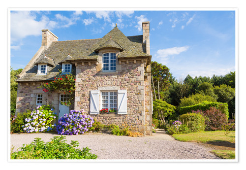 Poster Premium Country house in the summer