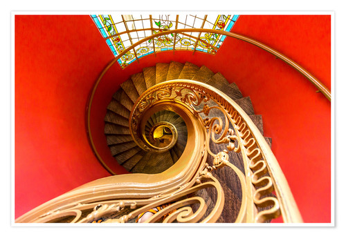 Poster Premium Spiral staircase in Brittany