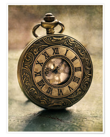 Poster Premium An Old Pocket Watch