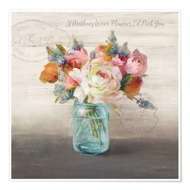 Poster Premium French Cottage Bouquet II
