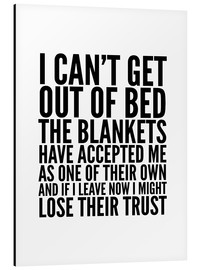 Stampa su alluminio  I Can't Get Out of Bed - Creative Angel