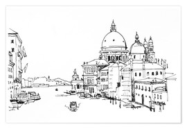 Poster Premium Grand Canal with the Santa Maria della Salute