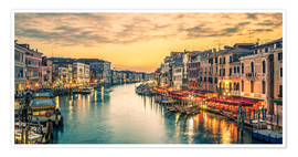 Poster Premium Grand Canal at the blue hour