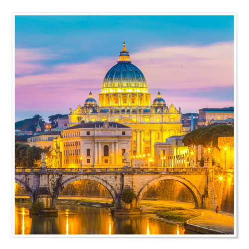 Poster Premium Bridge of Hadrian and St. Peter's Cathedral