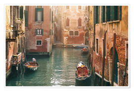 Poster Premium  Canal in Venice