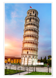 Poster Premium Pisa, place of miracles