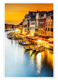 Poster Premium Grand Canal at dusk