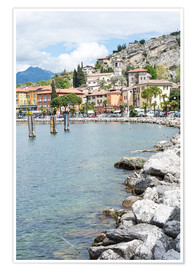 Poster Premium  The village of Torbole
