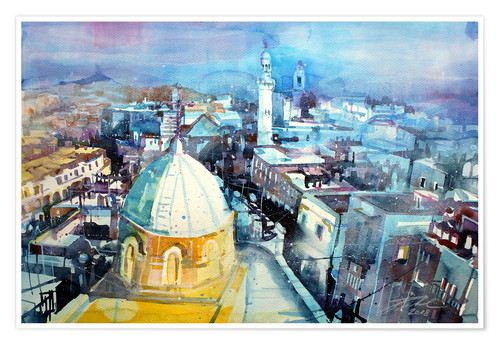 Poster Premium Bethlehem, view from the Syrian Orthodox Church