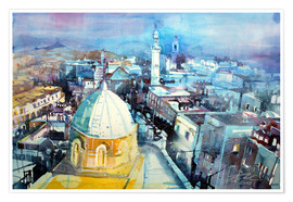 Poster Premium  Bethlehem, view from the Syrian Orthodox Church - Johann Pickl