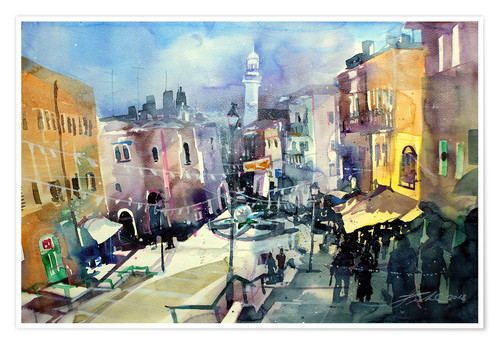Poster Premium Bethlehem, view to Omar Mosque