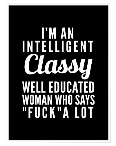 Poster Premium Intelligent, classy, well educated woman