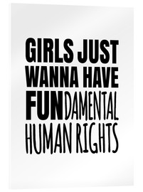 Vetro acrilico  Girls Just Wanna Have Fundamental Human Rights - Creative Angel