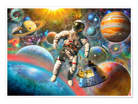 Poster Premium  30843 Astronaut Floating in Space - Adrian Chesterman