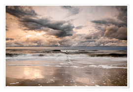 Poster Premium Stormy Baltic Sea Usedom