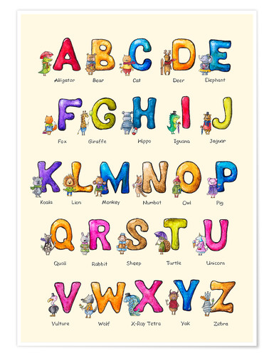 Poster English ABC for Children