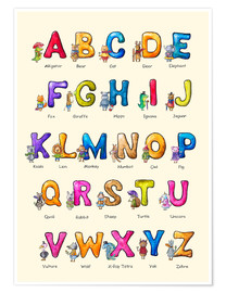 Poster Premium  English ABC for Children - Elena Schweitzer