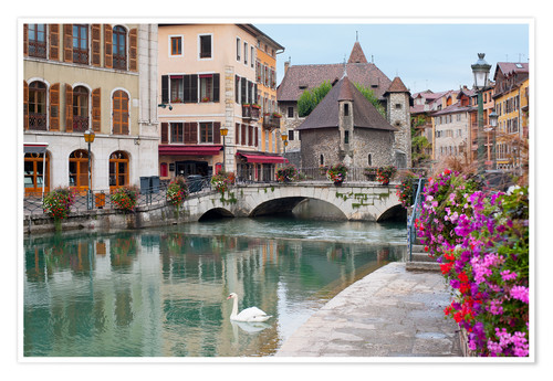 Poster Premium Wonderful view of Annecy