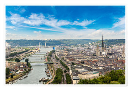 Poster Premium  Panoramic aerial view of Rouen
