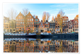 Poster Premium  Amsterdam morning reflections - George Pachantouris