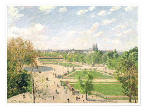 Poster Premium The Garden of the Tuileries on a Spring Morning