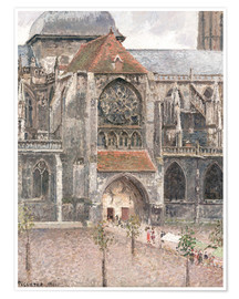 Poster Premium pissarro church of saint jacques dieppe jewish mus 1518714229