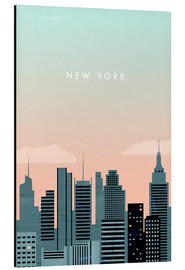 Alluminio Dibond  New York Illustration - Katinka Reinke