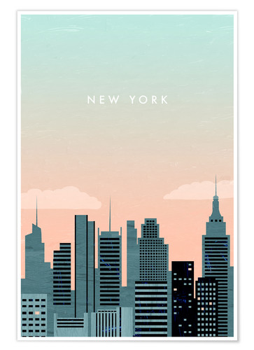 Poster Premium Illustrazione di New York