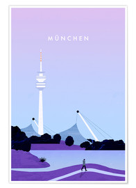 Poster  Munich illustration - Katinka Reinke