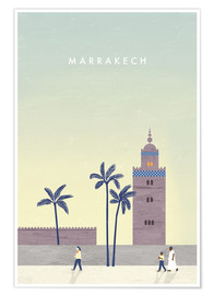 Poster Premium Illustrazione di Marrakesh