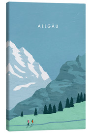 Stampa su tela  Hiking in the Allgäu illustration - Katinka Reinke