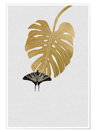 Poster  Butterfly & Monstera - Orara Studio