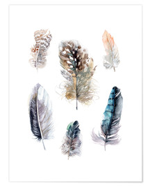 Poster  Feathers collection - Verbrugge Watercolor