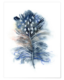 Poster Feather blue