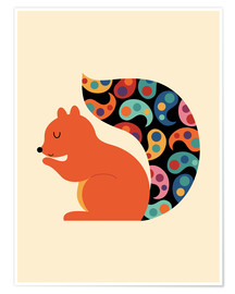 Poster Premium  Paisley Squirrel - Andy Westface