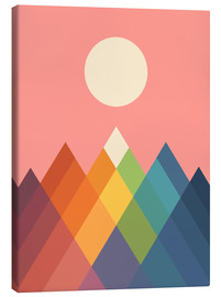 Stampa su tela  Montagne arcobaleno - Andy Westface