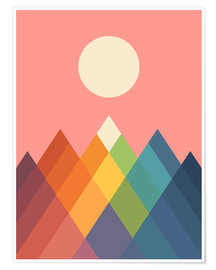 Poster Premium  Montagne arcobaleno - Andy Westface