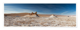 Poster Premium  Panorama Valley of the Moon, Atacama, Chile - Circumnavigation