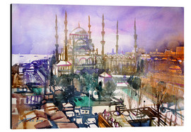 Alluminio Dibond  Istanbul, view to the blue mosque - Johann Pickl