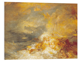 Stampa su PVC  Fuoco sul mare - Joseph Mallord William Turner