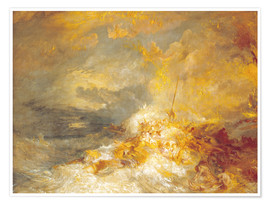 Poster Premium  Fuoco sul mare - Joseph Mallord William Turner