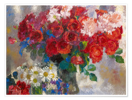 Poster Premium a giacometti red roses